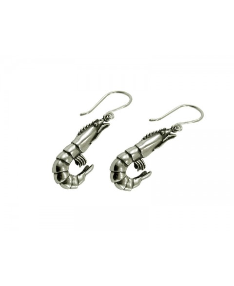 prawn earrings surreal jewelry sterling silver
