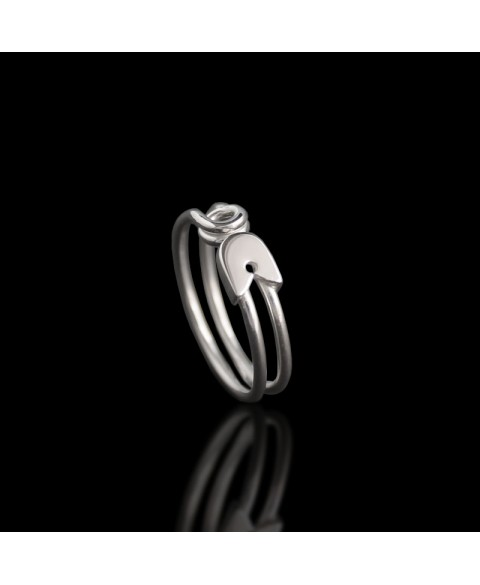 safety pin ring sterling silver