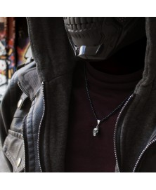 Skull necklace made in sterling silver