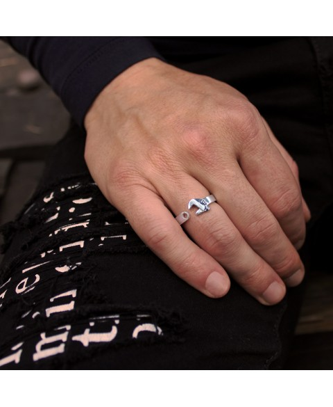 Wrench ring sterling silver