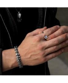 anillo forma tornillo plata de ley 925