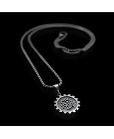 sterling silver gear pendant