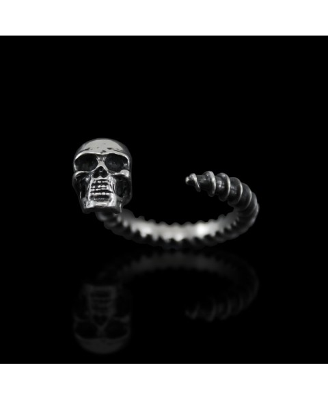 sterling silver skull ring dark style jewelry
