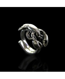 lobster ring sterling silver