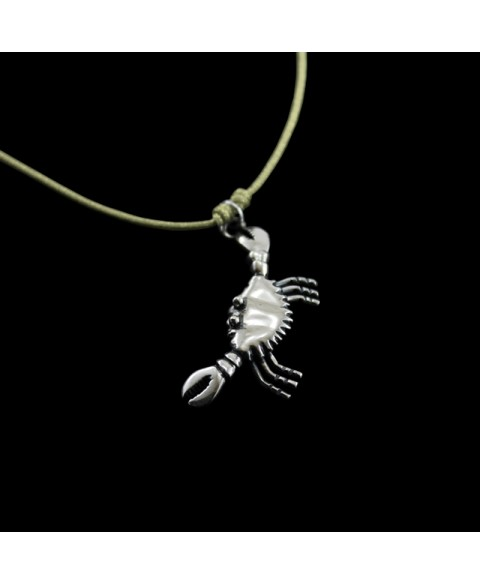 crab pendant sterling silver