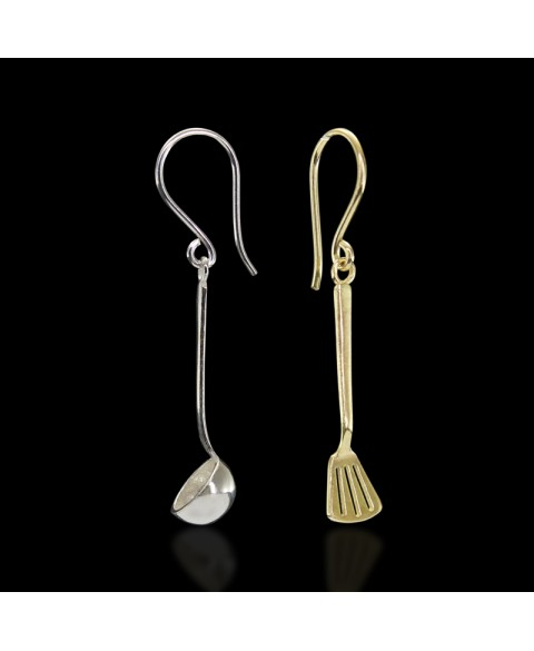 spoon and spatula earrings