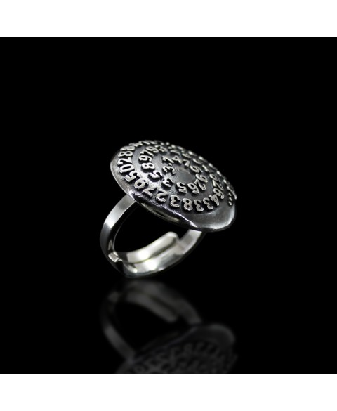 Pi number ring sterling silver