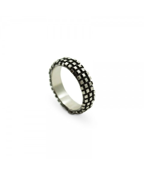 Motorcycle wheel ring design sterling silver