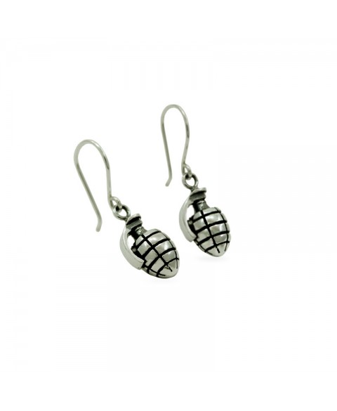 Hand bomb earrings sterling silver