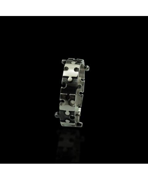 Anillo puzzle plata de ley