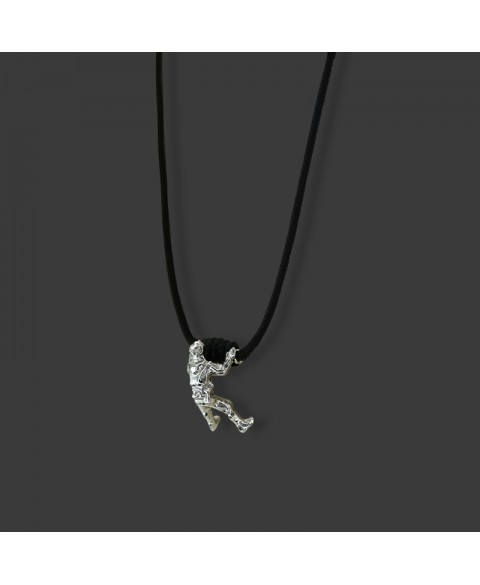 Climber man necklace sterling silver