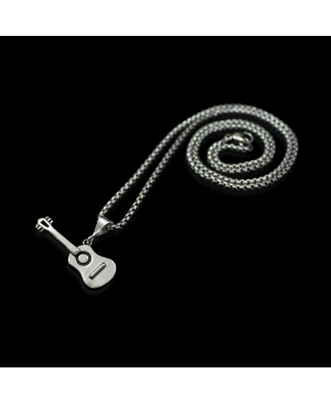 Guitar pendant sterling silver