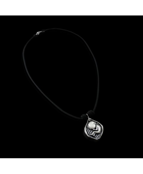 Fetus biomechanoid necklace sterling silver