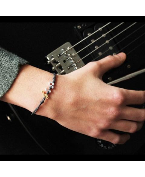Pulsera notas musicales plata de ley