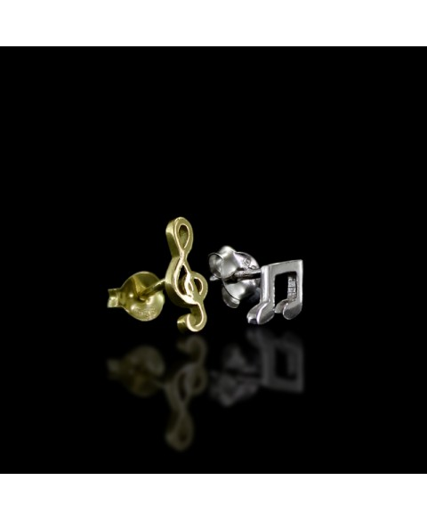 Musical notes earrings sterling silver