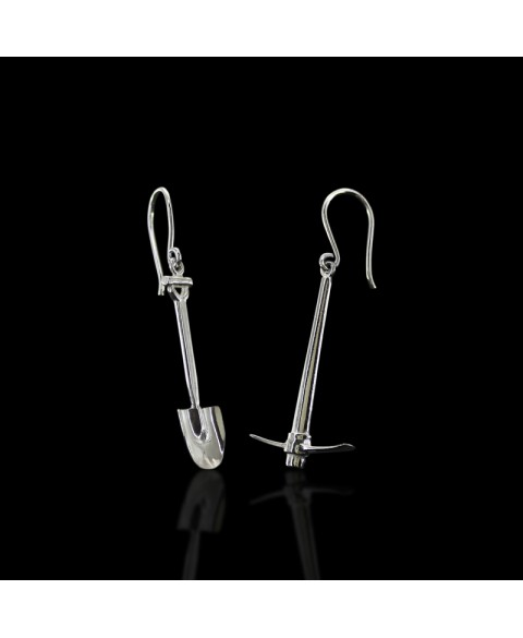 Peak shovel earrings sterling silver