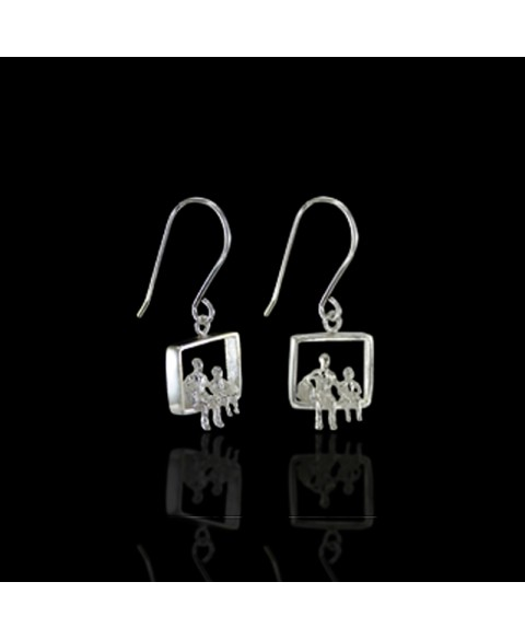 Miniature earrings serling silver
