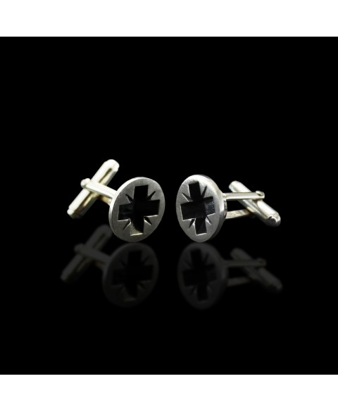 Screw cufflinks sterling silver
