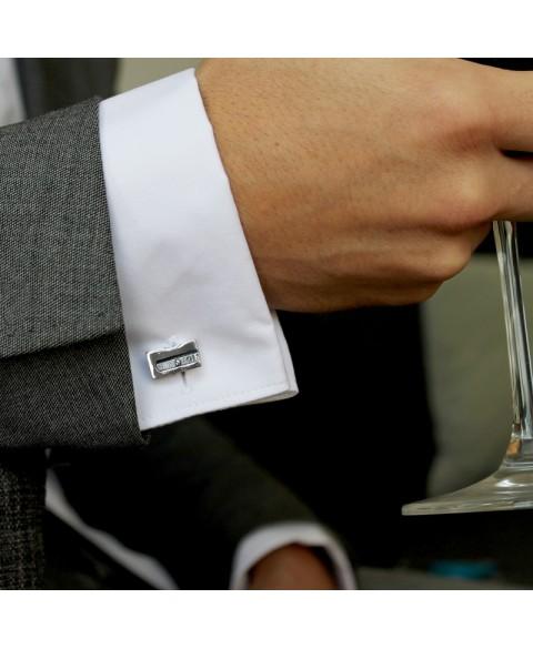 Pencil sharpener cufflinks sterling silver