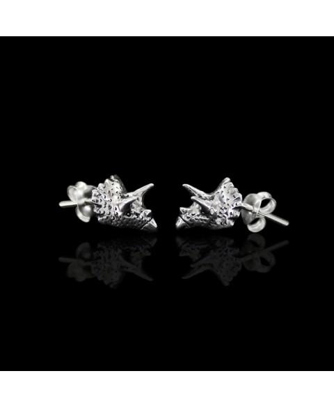 Triceraptos dinosaur earrings sterling silver