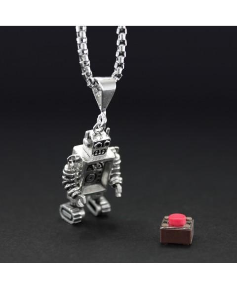 Collar robot articulado plata de ley