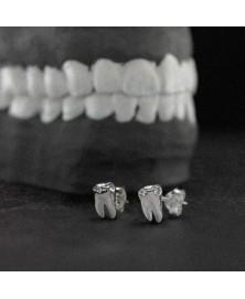Tooth earrings sterling silver