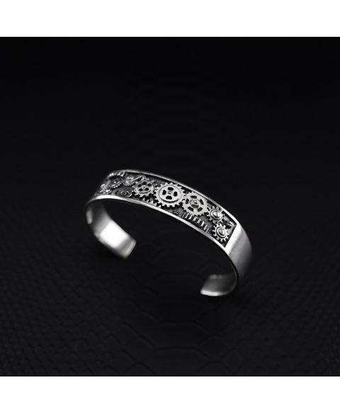 Gear bracelet sterling silver