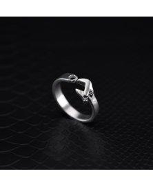 anillo llave inglesa plata de ley 925