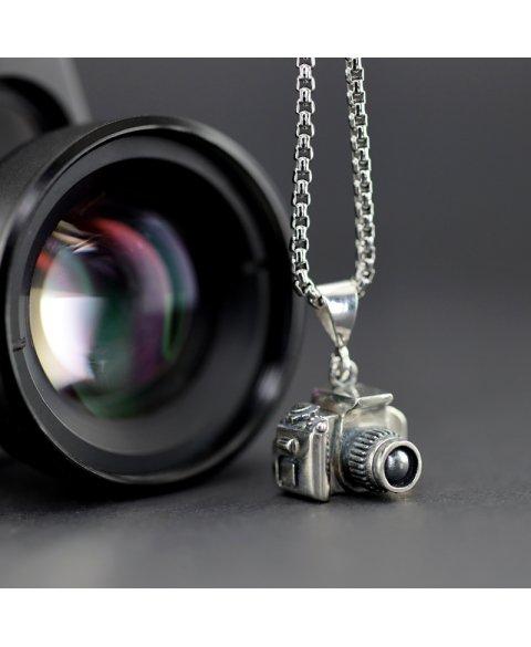 colgante camara de fotos plata de ley