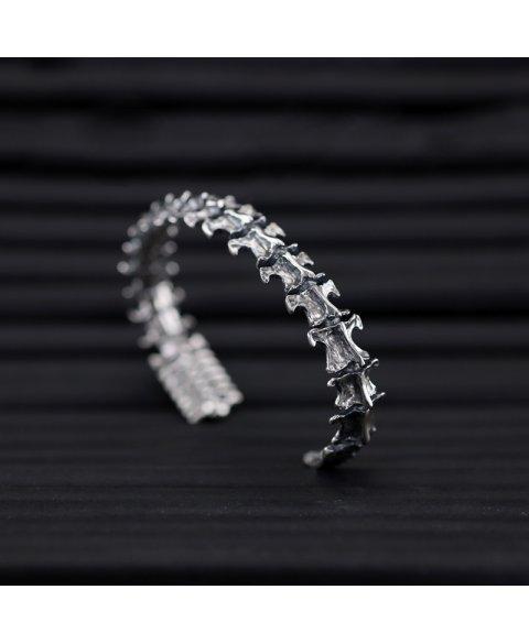 pulsera columna vertebral plata de ley 925