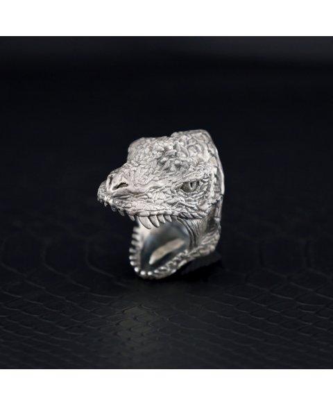 Anillo tiranosaurio rex plata de ley dinosaurio