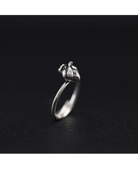 Anillo corazon anatomico plata de ley