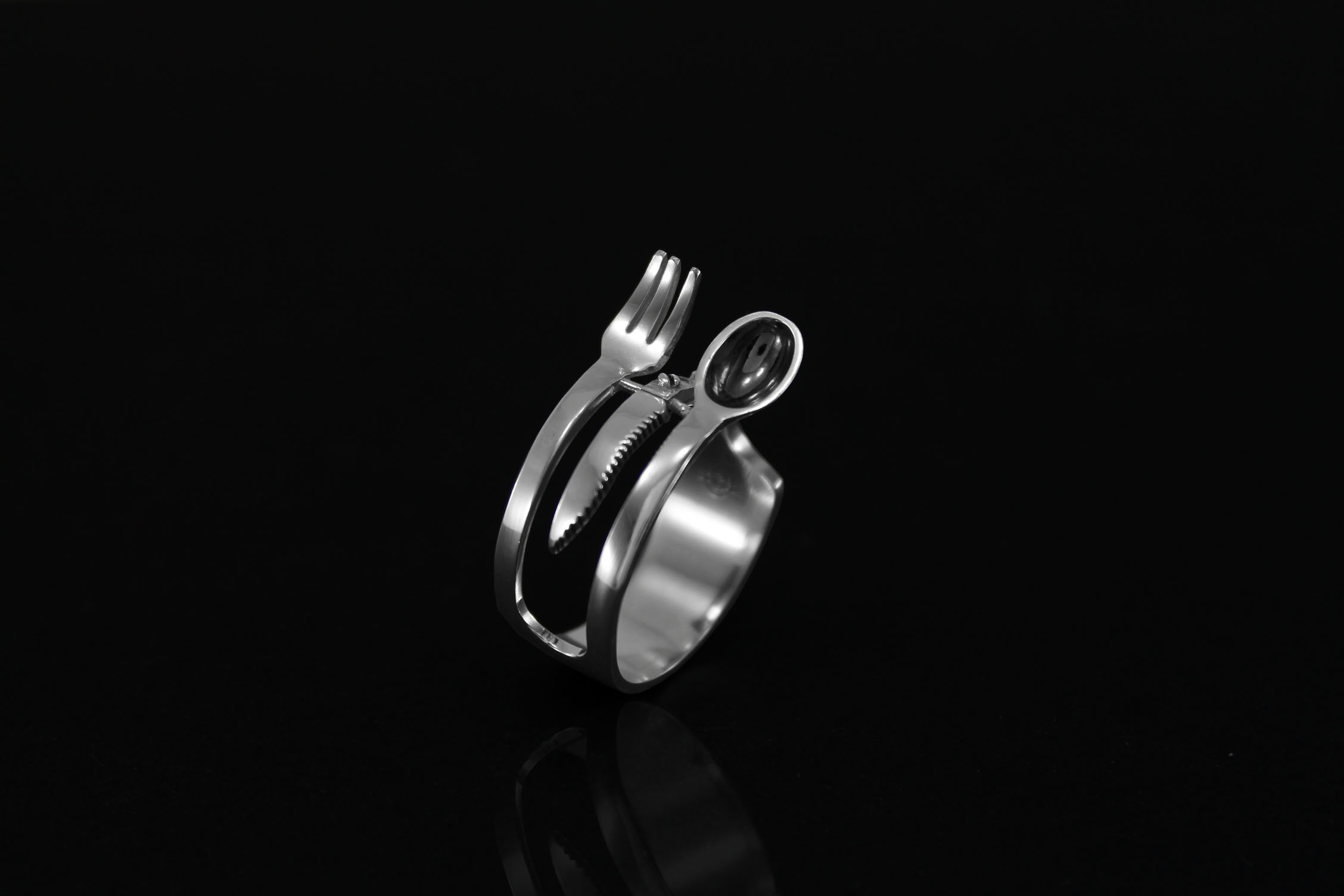 Anillo oido cocina chef anillo tenedor kitchen collection jewelry