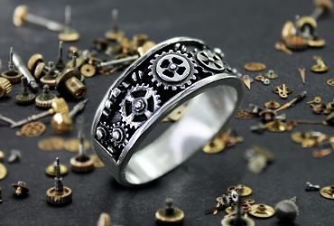 Anillo engranajes steampunk gear ring